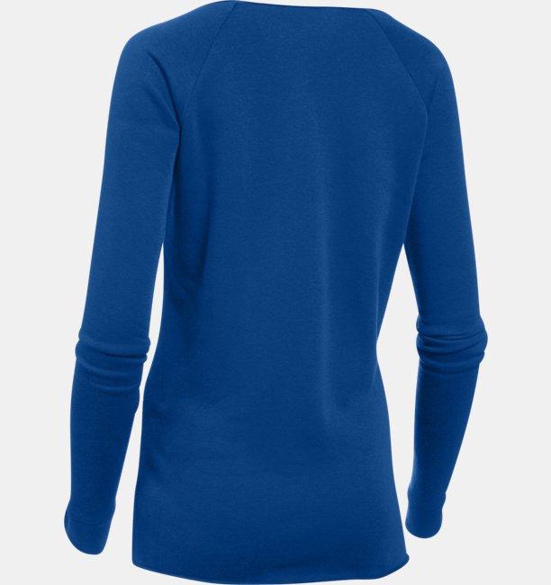 Camiseta UA Hustle Fleece para Mujer
