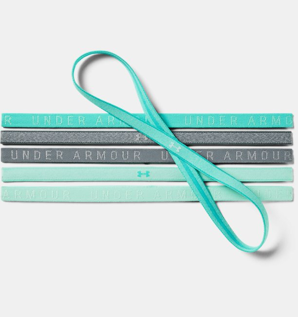 Womens UA Heathered Mini Headbands - 6 Pack