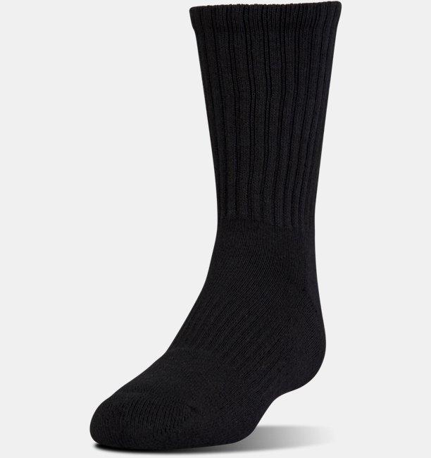 617eec5408c3 Kids' UA Charged Cotton® 2.0 Crew Socks