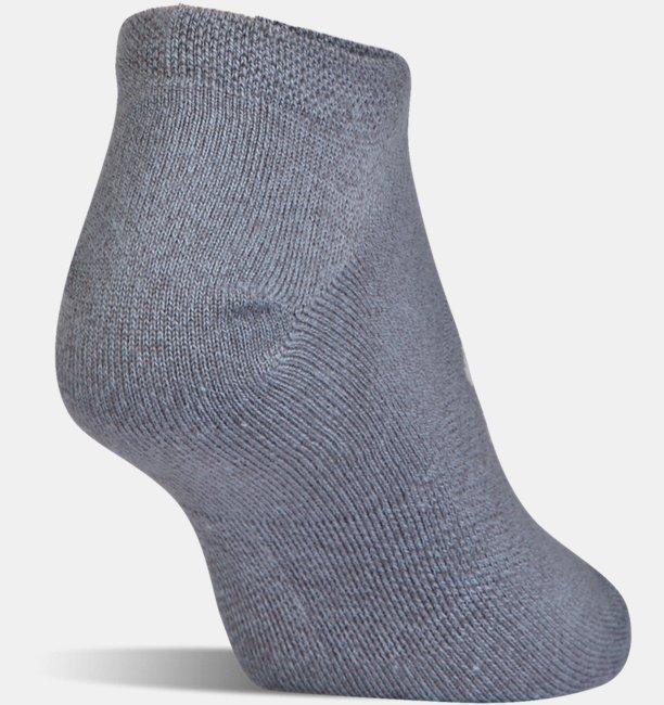 Womens UA Solid No Show Socks 6-Pack