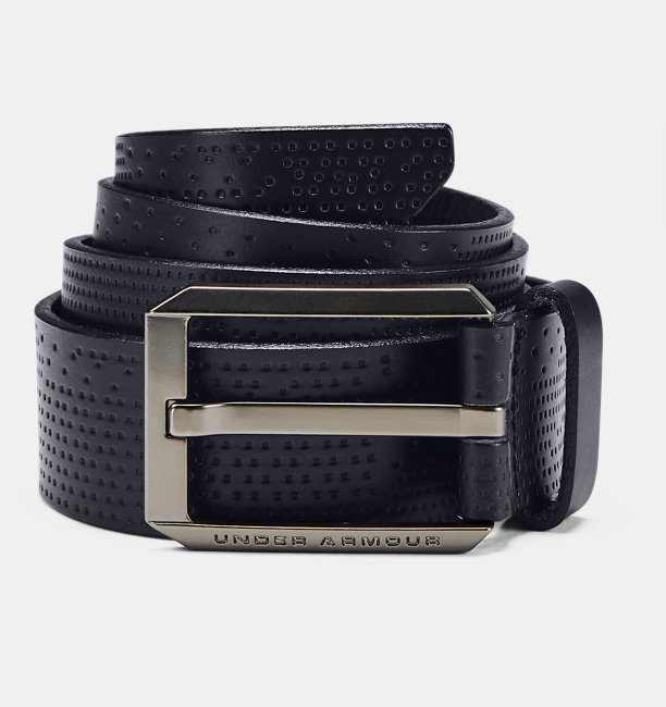 Men UA Laser Perf Leather Belt