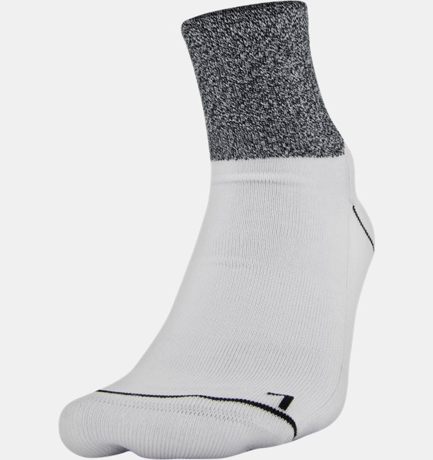 Mens UA Phenom Quarter – 3-Pack Socks