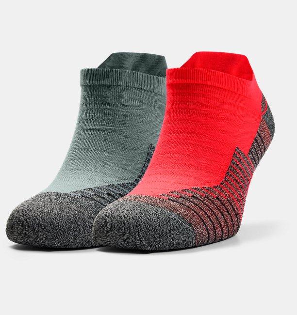 UA Run No Show Tab – 2-Pack Socks