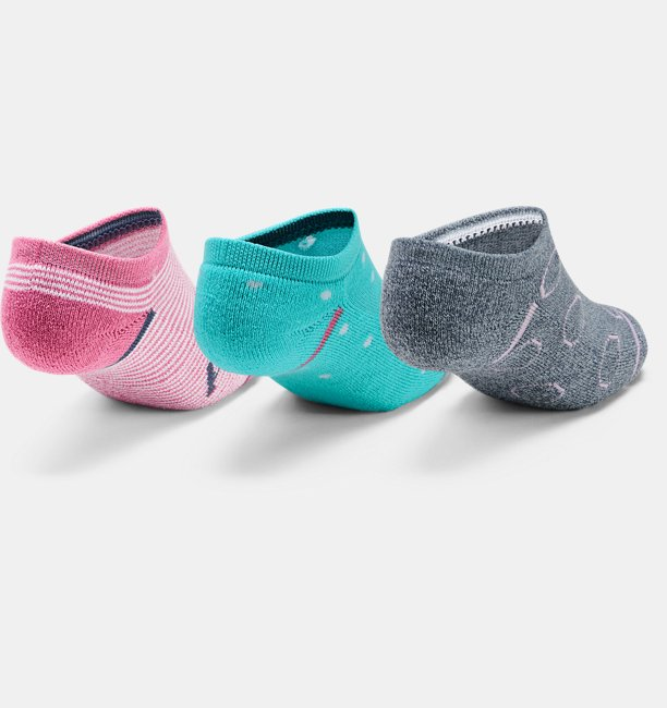 Youth UA Phenom No Show – 3-Pack Socks