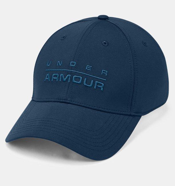 Mens UA Wordmark Stretch Fit Cap