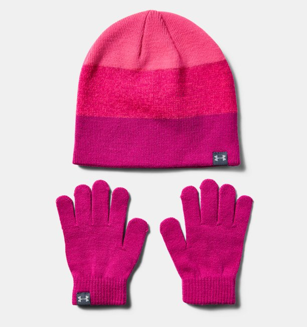 Girls UA Beanie Glove Combo