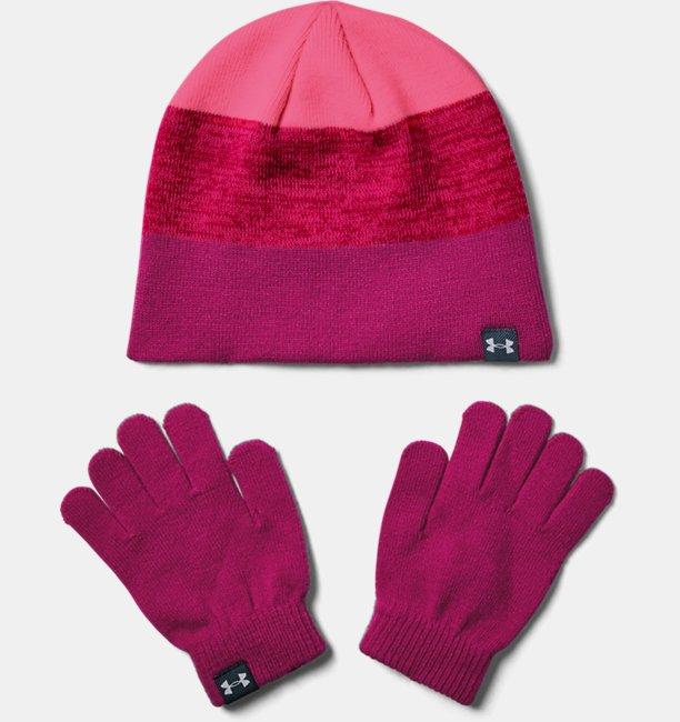 Girls UA Beanie Glove Combo