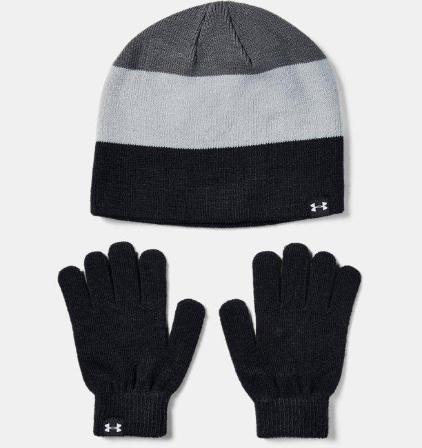 Boys UA Beanie Glove Combo