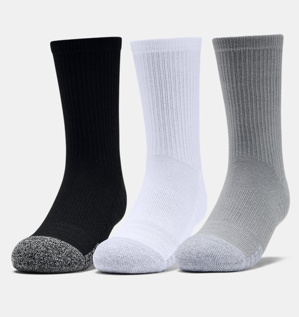Youth HeatGear® Crew Socks 3-Pack