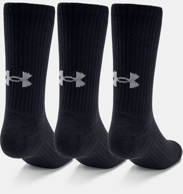 Adult UA Training Cotton Crew Socks 3-Pack