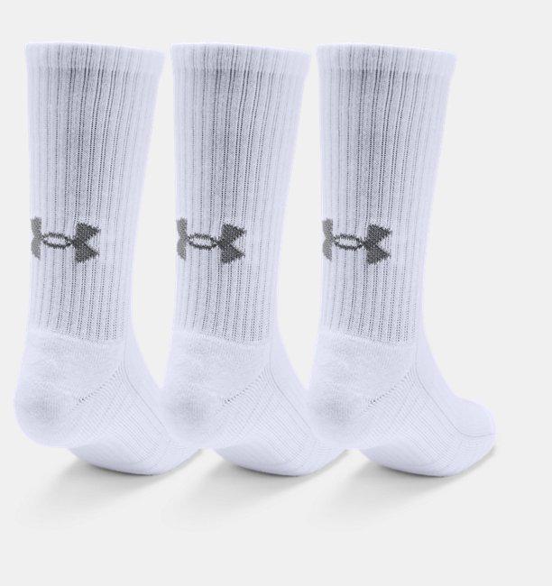 Adult UA Training Cotton Crew Socks 3-Pack