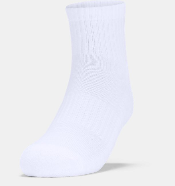 Adult UA Training Cotton Quarter Socks 3-Pack