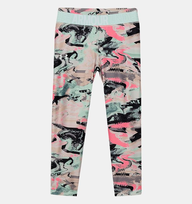 Girls HeatGear® Armour Printed Crop