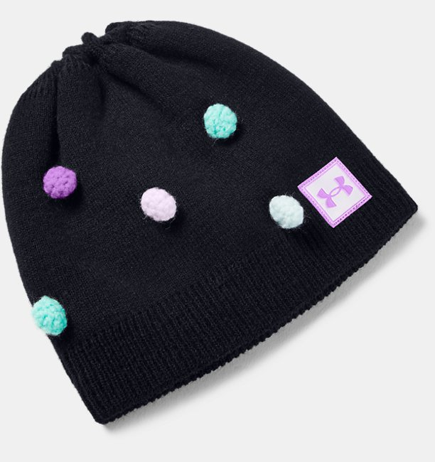 Girls UA Multi Hair Pom Beanie