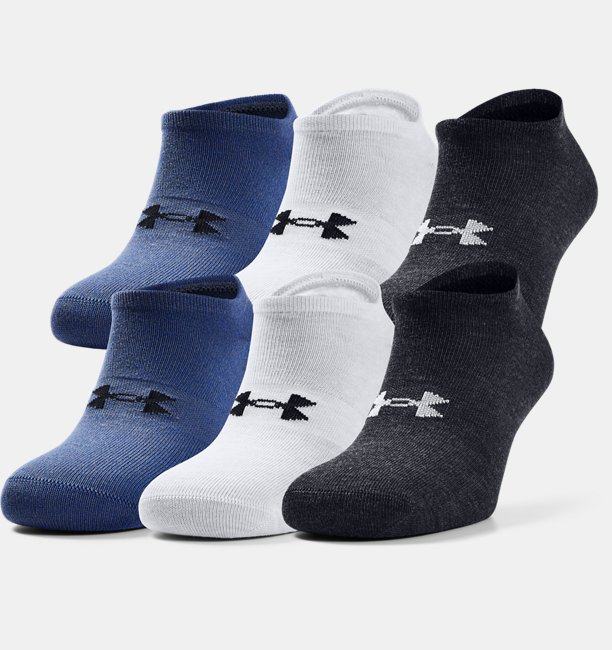 Mens UA Essentials No Show Socks - 6-Pack