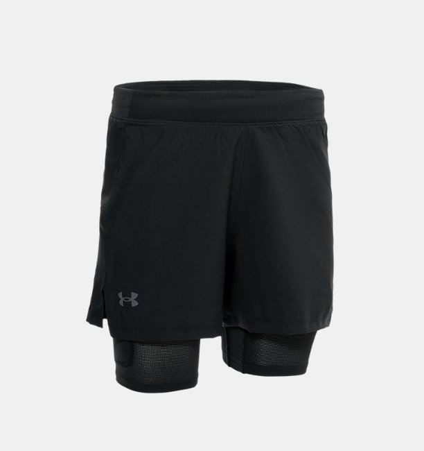 Mens UA Iso-Chill Run 2-in-1 Shorts