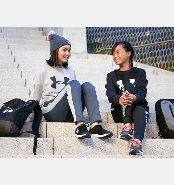 UAスポーツスタイル フリース クルー(ライフスタイル/GIRLS)