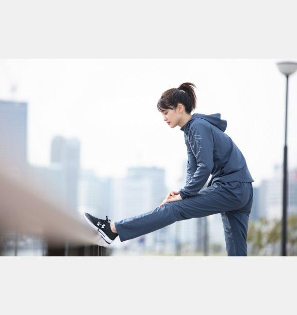 UAトリコット ライナー ウーブン パンツ(トレーニング/ロングパンツ/WOMEN)