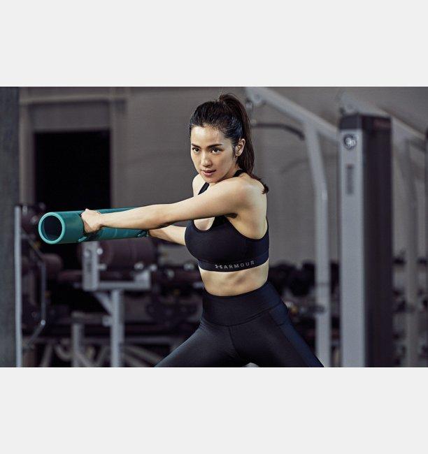 UAアーマー ミッド クロスバックブラ(ミディアムサポート/スポーツブラ/トレーニング/WOMEN)