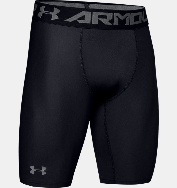 Mens HeatGear® Armour Long Compression Shorts
