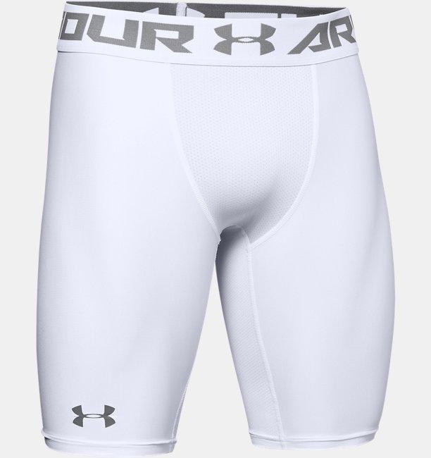 Mens HeatGear® Armour Long Compression Shorts