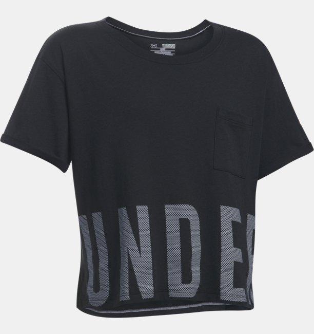 Girls UA Studio Short Sleeve T-Shirt