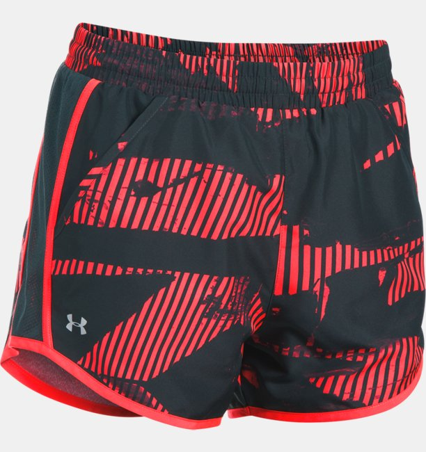 Womens UA Fly-By Printed Shorts