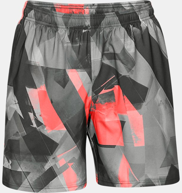 Mens UA Launch SW Printed 7 Shorts