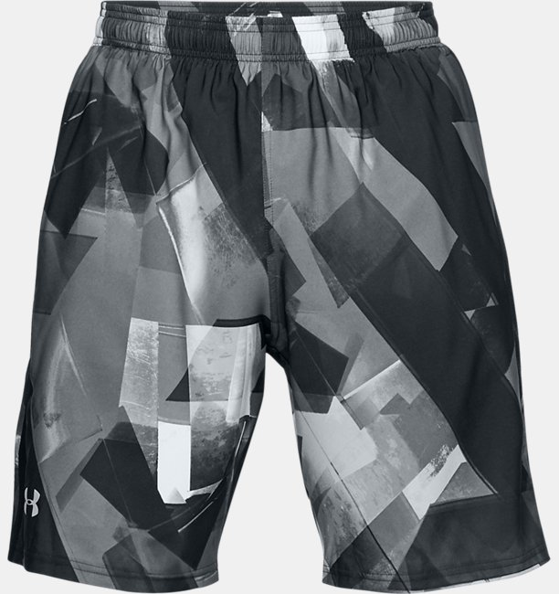 Mens UA Launch SW Printed 9 Shorts