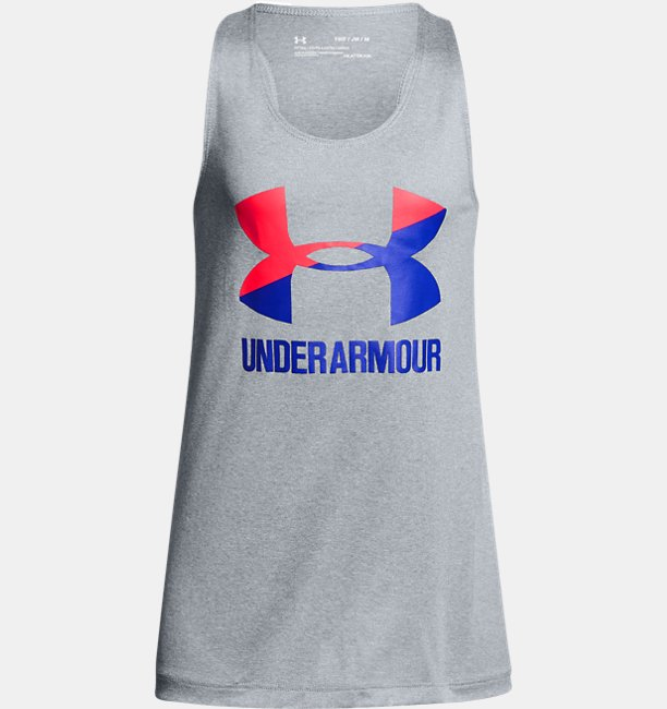 Girls UA Big Logo Slash Tank