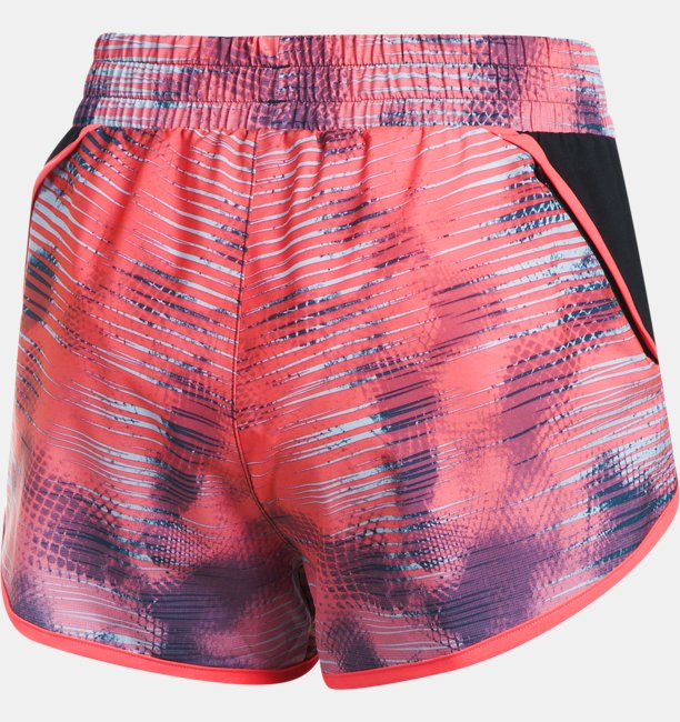 Womens UA Launch Printed Tulip Shorts