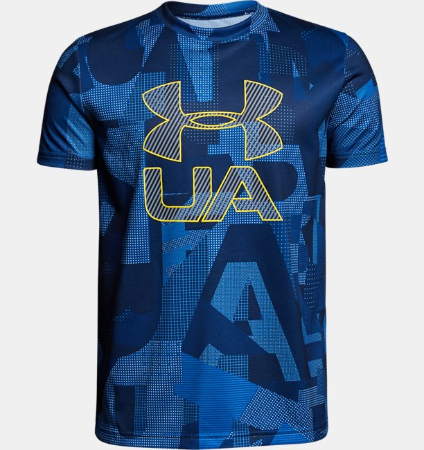 Boys UA Printed Crossfade T-Shirt