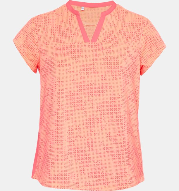 Womens UA Threadborne Printed Short Sleeve