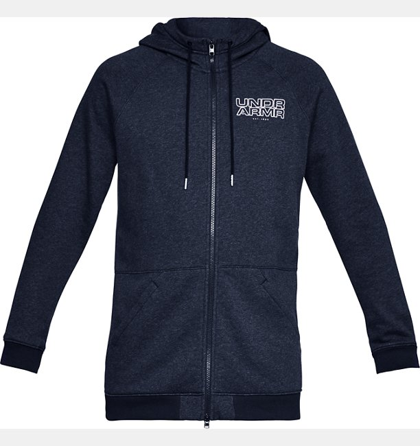 Mens UA Baseline Fleece Full Zip Hoodie