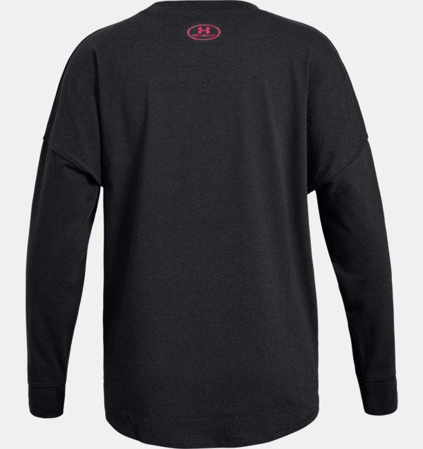 Girls UA Overlay Branded Long Sleeve T-Shirt