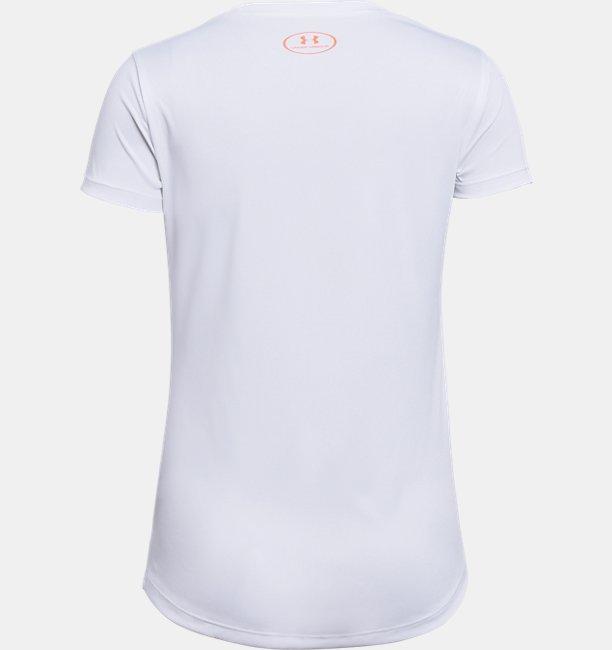 Camiseta UA Hybrid 2.0 Big Logo Infantil Feminina