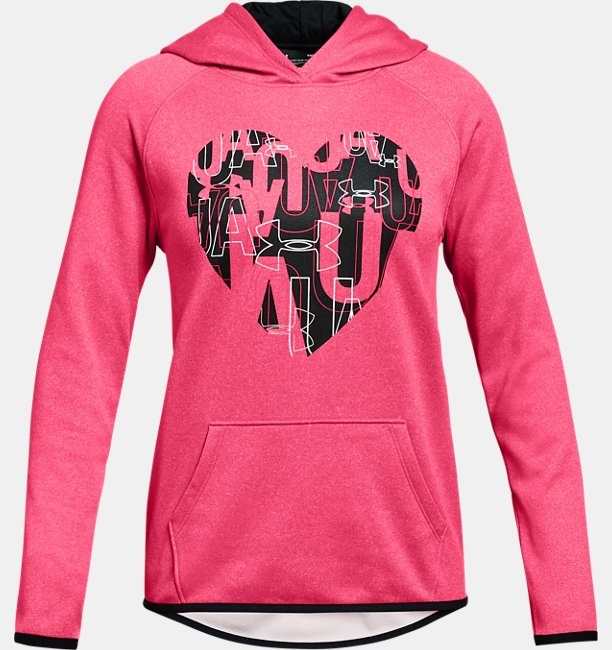 Girls Armour Fleece® Heart Hoodie