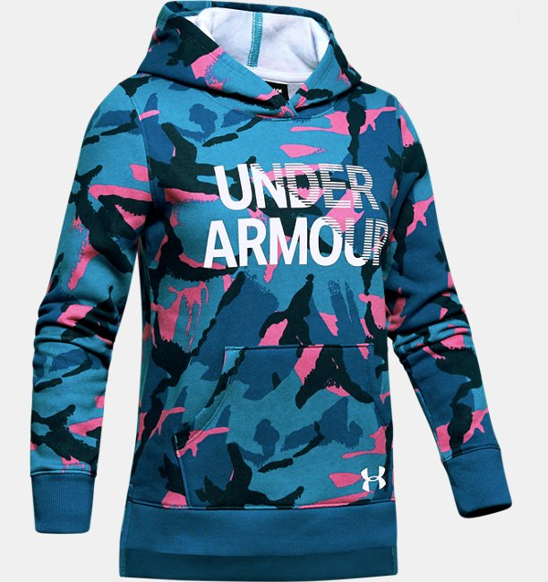 Girls UA Rival Fleece Wordmark Hoodie