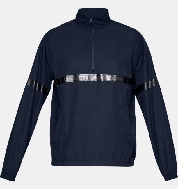 Mens UA Sportstyle Woven 1/2 Zip