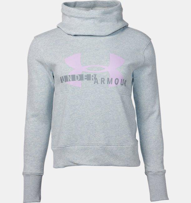 UAコットンフリース スポーツスタイル ロゴフーディー(ライフスタイル/パーカー/WOMEN)