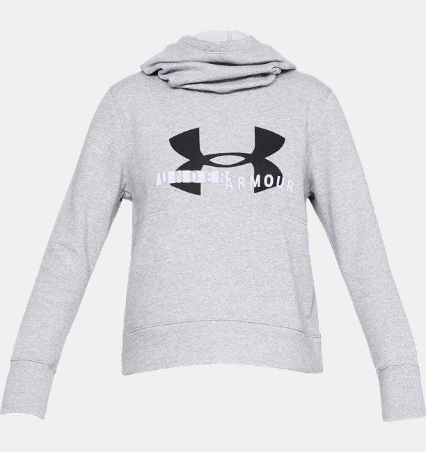 Womens UA Rival Fleece Logo Hoodie