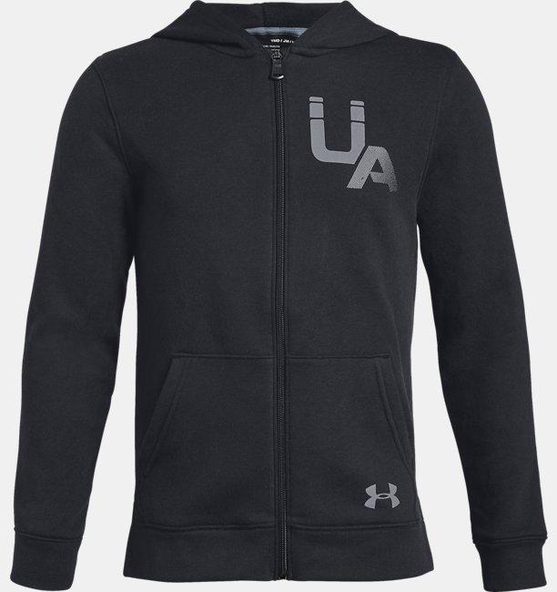 Erkek Çocuk UA Rival Logo Tam Boy Fermuarlı
