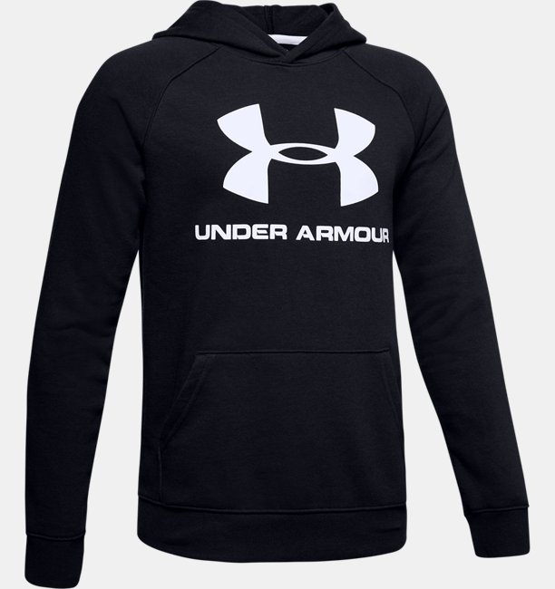Jungen UA Rival Hoodie mit Logo