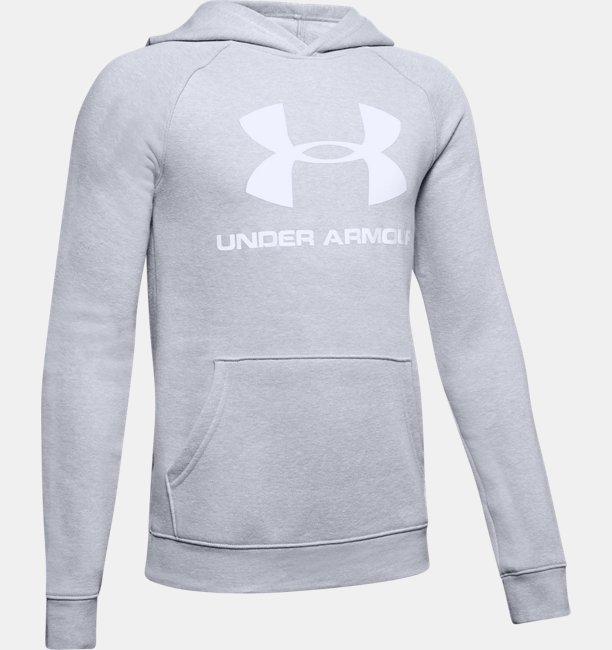 Boys UA Rival Logo Hoodie
