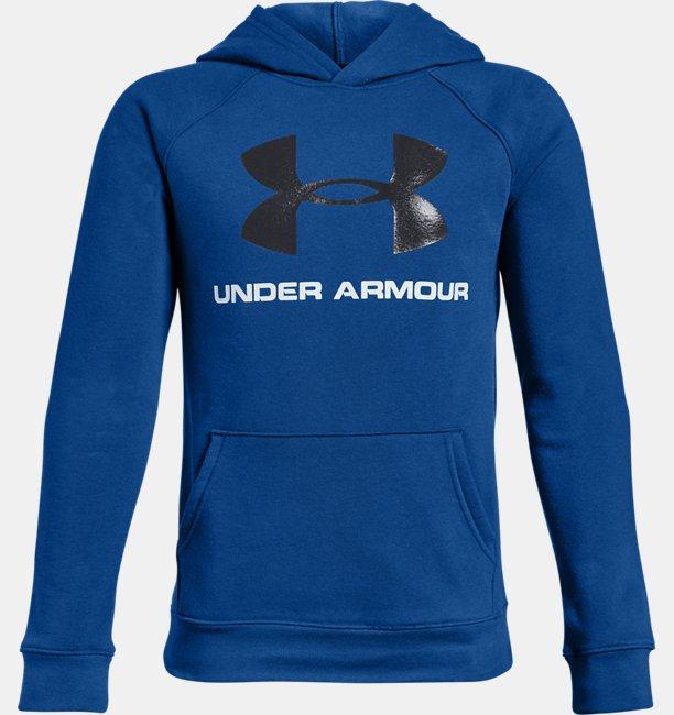 Erkek Çocuk UA Rival Logo Kapüşonlu Üst