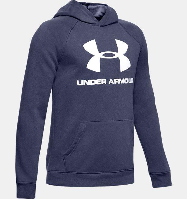 Sweat à capuche UA Rival Logo pour garçon