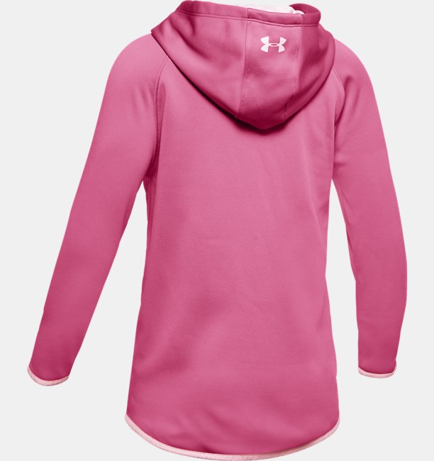 Kız Çocuk Armour Fleece® Tam Boy Fermuarlı Kapüşonlu Üst