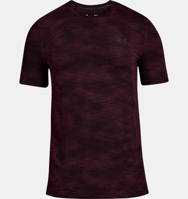 【アウトレット】UAバニッシュシームレスショートスリーブ<カモ>(トレーニング/Tシャツ/MEN)