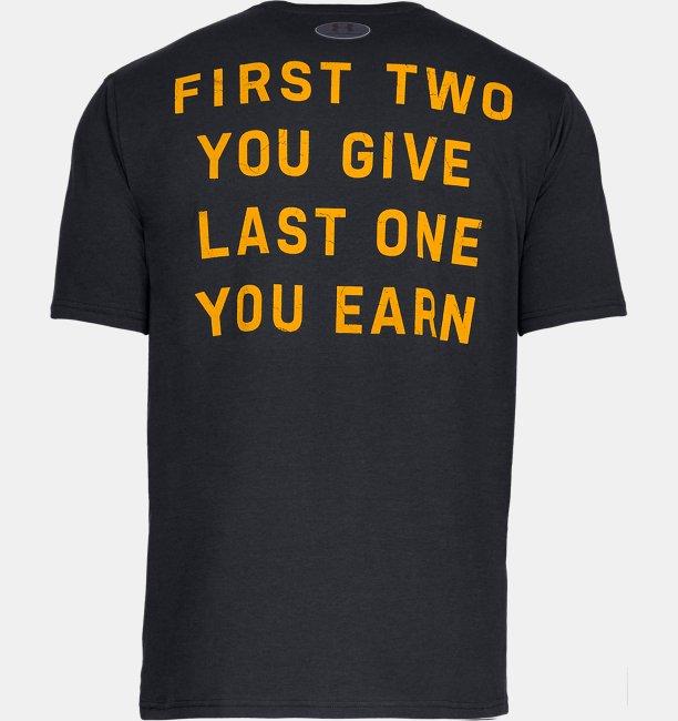 남성 UA x 프로젝트 락 블러드 스웨트 리스펙트 반팔 티셔츠