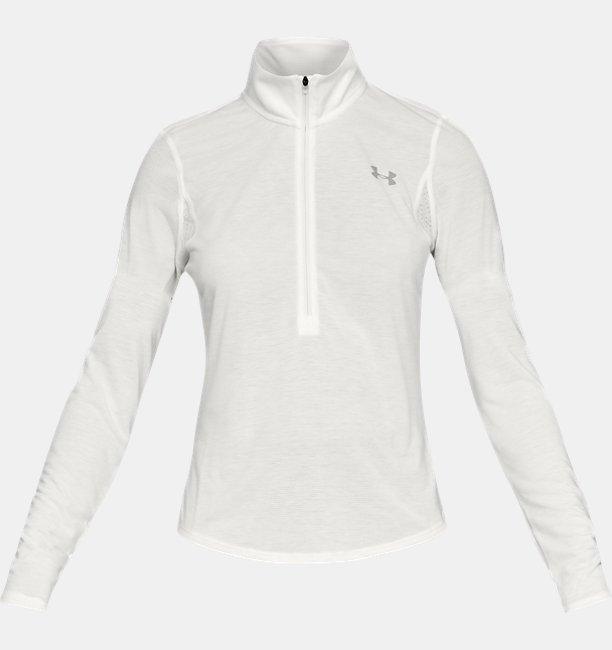Camiseta UA Streaker ½ Zip para Mujer